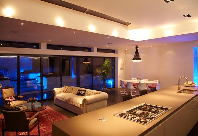 2011 01 house tour contemporary lighting design - Home Lighting Design