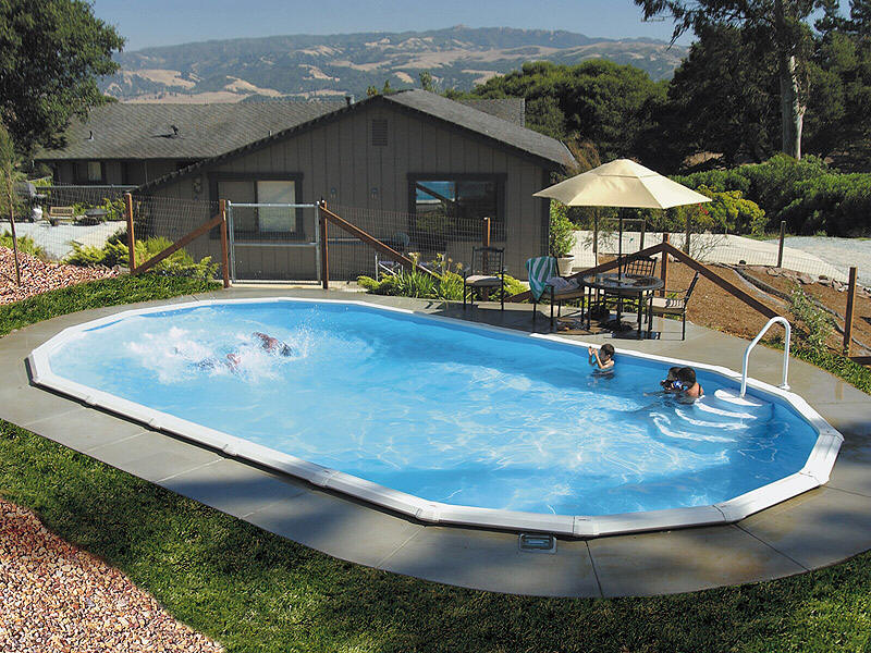 Inground Professional Pool Installation Dwell